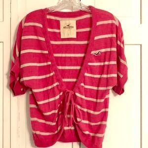 Hollister tie front short sleeve cardigan
